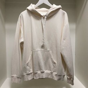H&M Basics Hooded Sweatshirt in Ivory Cream